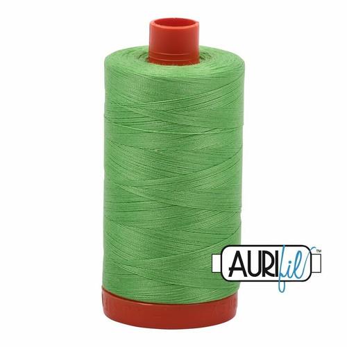 Aurifil 50wt Shamrock Green (6737) thread