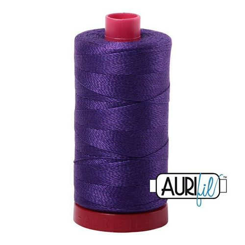 Aurifil 12wt Dark Violet (2582) thread