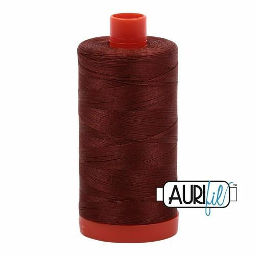 Aurifil 50wt Copper Brown (4012) thread