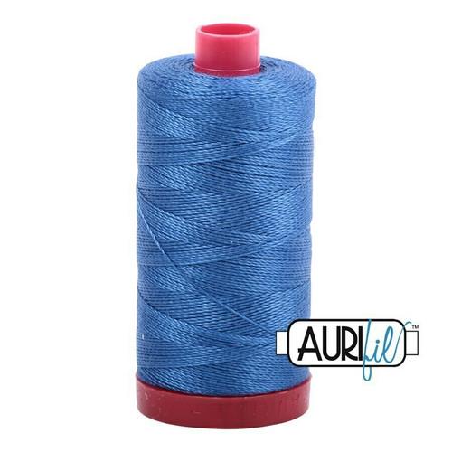 Aurifil 12wt Delft Blue (2730) thread