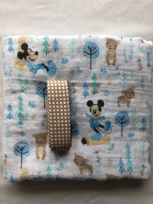 Muslin Baby Wrap - Mickey Mouse