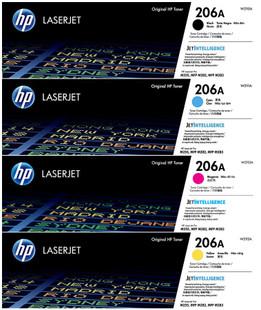 HP 206A SET | W2110A W2111A W2112A W2113A | Original HP LaserJet Toner Cartridges - Black, Cyan, Magenta, Yellow