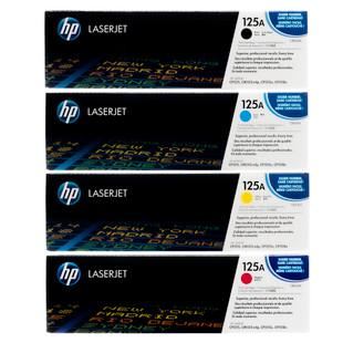 HP 125A SET | CB540A CB541A CB542A CB543A | Original HP Toner Cartridge - Black, Cyan, Yellow, Magenta