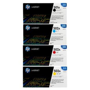 HP 501A 502A SET | Q6470A Q6471A Q6472A Q6473A | Original HP Toner Cartridge - Black, Cyan, Yellow, Magenta