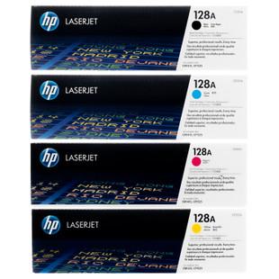 HP 128A SET | CE320A CE321A CE322A CE323A | Original HP Toner Cartridge - Black, Cyan, Yellow, Magenta