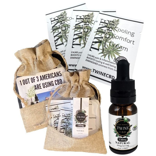 Trial Pack Gift Set -99% Pure Organic CBD Isolate THC Free - Natural or Peppermint