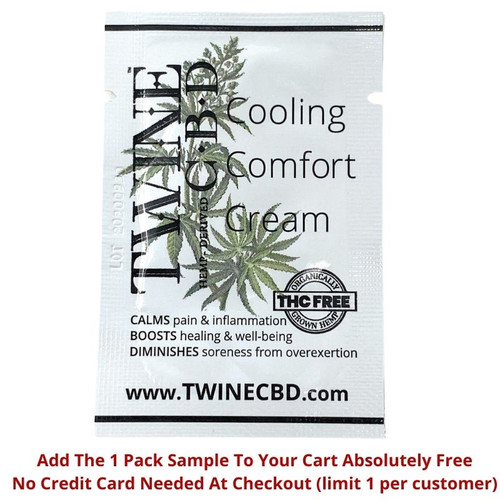 Free Sample Available - Travel Size CBD Topical Cream 99% Pure Organic CBD Isolate THC Free-Cool Menthol