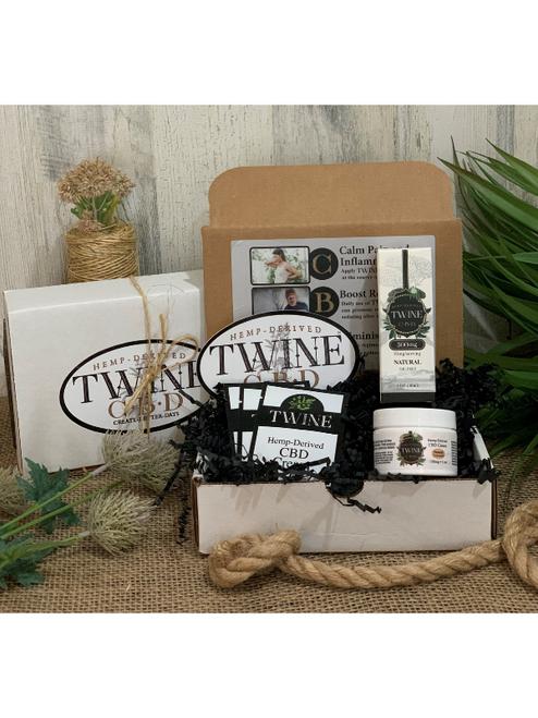Special Occasion or Holiday CBD Gift Set including 300mg CBD Oil and 1oz CBD Cream