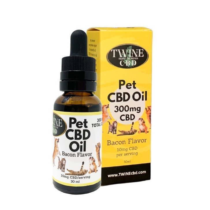 300mg Pet CBD Oil for Dogs or Cats 99% Pure Organic CBD Isolate THC Free 30ml Bottle Bacon