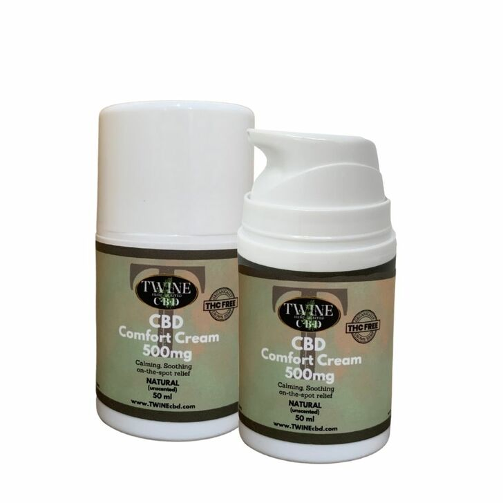500mg CBD Topical Cream 99% Pure Organic CBD Isolate THC Free 50ml-Unscented Natural