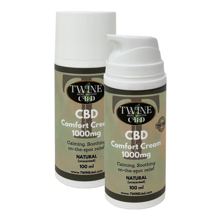 1000mg CBD Comfort Cream 99% Pure Organic CBD Isolate THC Free 100ml-Unscented Natural