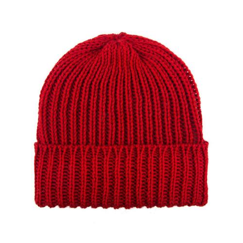 Wool Beanie — Cherry