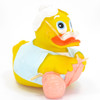 Grandmother Knitting Rubber Duck by Lanco | Ducks in the Window®