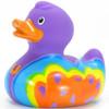 Butterfly Love Hippie Rubber Duck Bath Toy by Bud Ducks | Ducks in the Window®