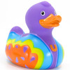 Butterfly Love Hippie Rubber Duck Bath Toy by Bud Ducks | Ducks in the Window®
