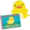5 Little Ducks Bath Book and Rubber Ducky Bath Mitt by Big Splash