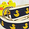 Chatham Ducks branded rubber duck canvas D-Ring preppy belt   Ducks in the Window