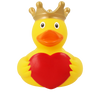 Heart Message  Rubber Duck by LILALU bath toy   Ducks in the Window