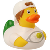 Tennis Player Boy Rubber Duck by LILALU bath toy   Ducks in the Window