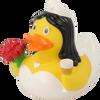 Wedding Bride Rubber Duck by LILALU bath toy | Ducks in the Window