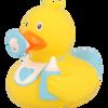 Baby Boy Birthday Shower Rubber Duck by LILALU bath toy   Ducks in the Window