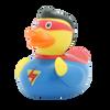 Superman Hero  Rubber Duck by LILALU bath toy   Ducks in the Window