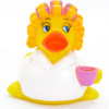 Coffee Time Rubber Duck (White) by Ad Line | Ducks in the Window®