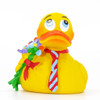 Flowers & Tie Rubber Duck by Lanco 100% Natural Toy & Organic | Ducks in the Window®