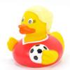 Soccer Girl Rubber Duck by Schnabels   Ducks in the Window®