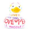 Positive Poem Rubber Duck Bath Toy by Bud Ducks   Ducks in the Window®