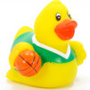 Basketball Player Green Rubber Duck by Ad Line | Ducks in the Window®
