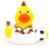 Soccer Fan Football Rubber Duck by Schnabels  | Ducks in the Window®