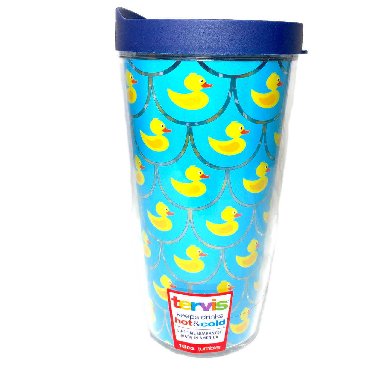 Chatham Ducks Brand Scalloped Rubber Duck Pattern Tervis Insulated