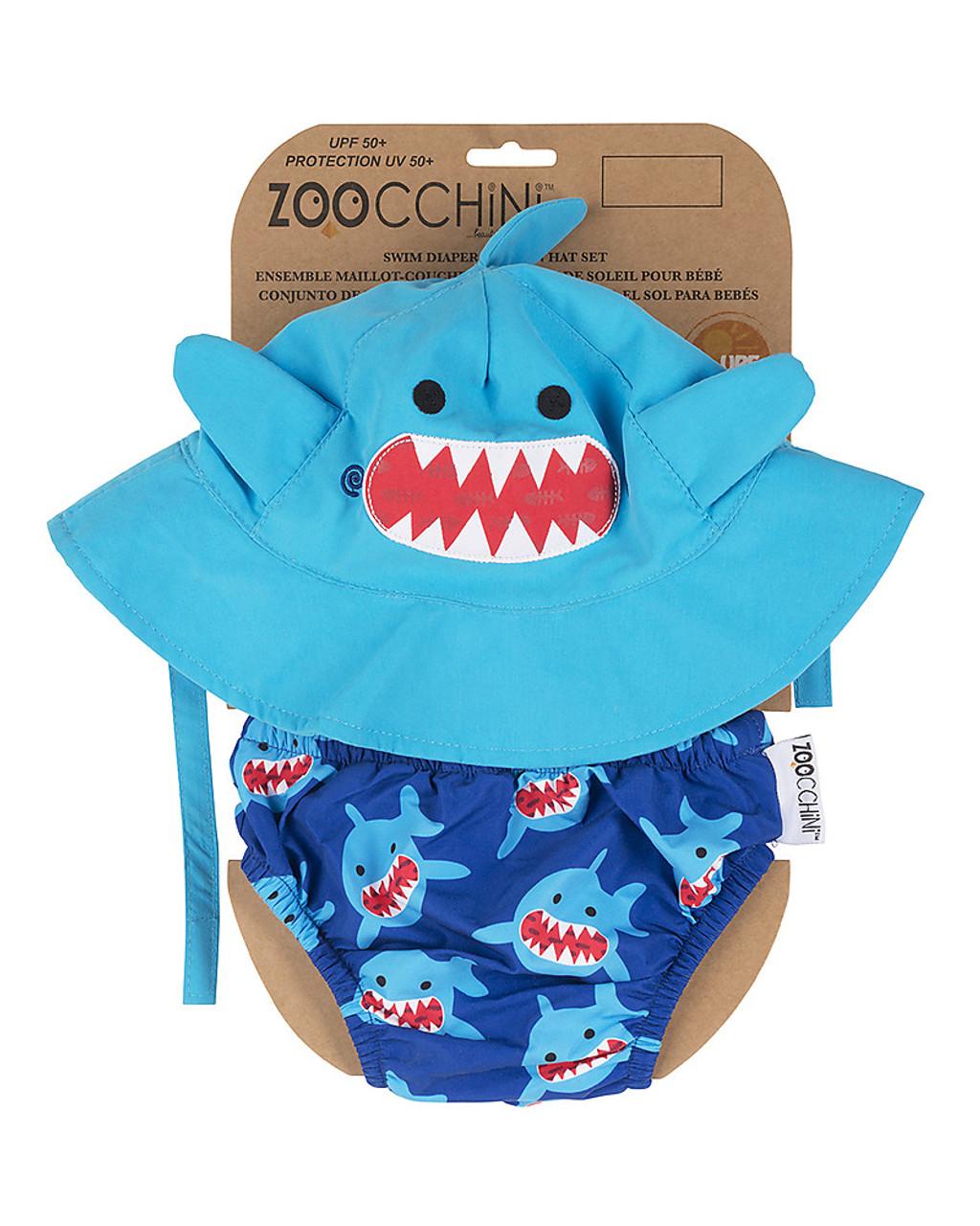 Infant Swim Diaper   Hat Set Shark by Zoocchini  c8c6d54776d