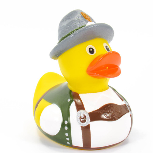 German Alps Octoberfest Rubber Duck by Schnabels  | Ducks in the Window®