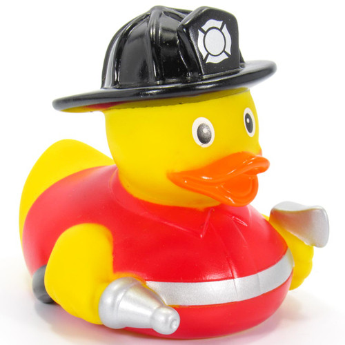 Fire Fighter Red Fireman by Ad Line   Ducks in the Window®