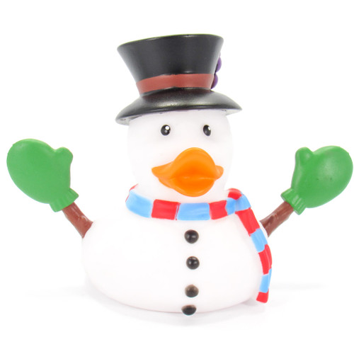Snowman Frosty Christmas Holidays Rubber Duck by Wild Republic | Ducks in the Window®