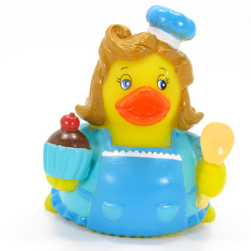 Baker Blue , Cup Cake, Rubber Duck by Ad Line | Ducks in the Window®