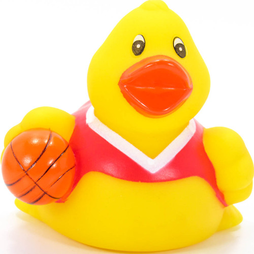 Basketball Player Red Rubber Duck by Ad Line | Ducks in the Window®
