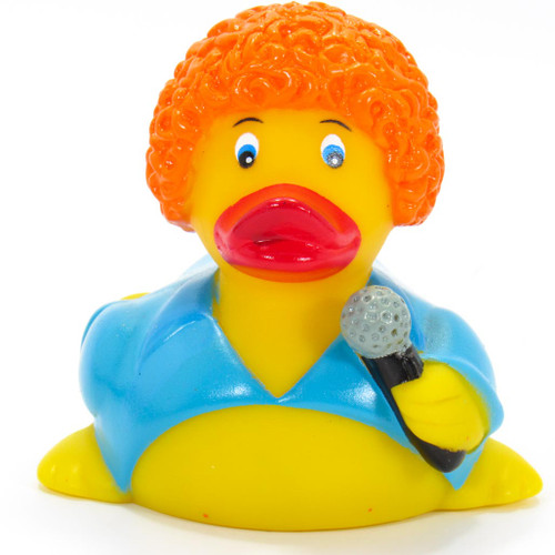 Diva Singer Rubber Duck by Ad Line  | Ducks in the Window®
