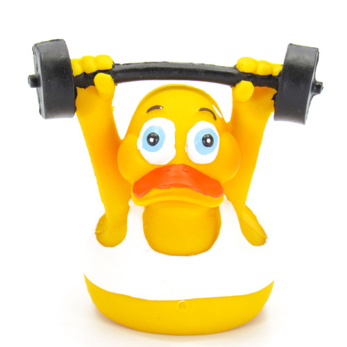 Weightlifter Work Out Gym Rubber Duck by Lanco | Ducks in the Window®
