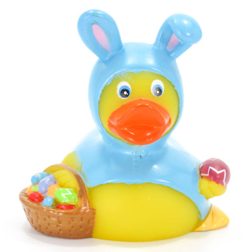 Easter Bunny (Blue) Rubber Duck by Ad Line | Ducks in the Window®