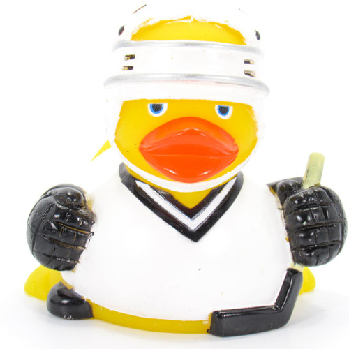 Hockey Player Rubber Duck by Ad Line | Ducks in the Window®