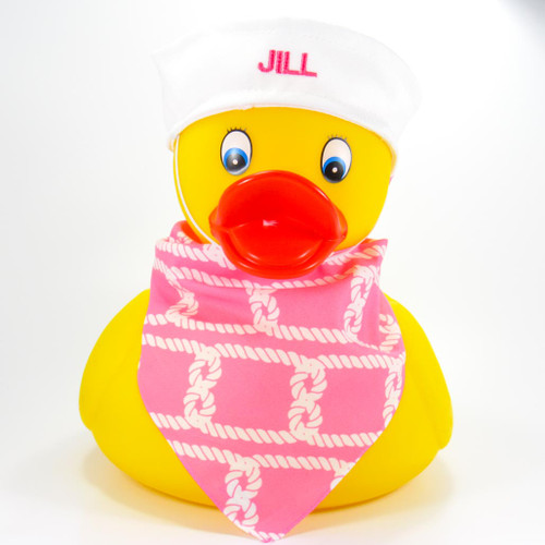 Jumbo Personalized Your Name or Phrase Rubber Duck Bath Toy, Spa or Pool Toy by Ducks in the Window