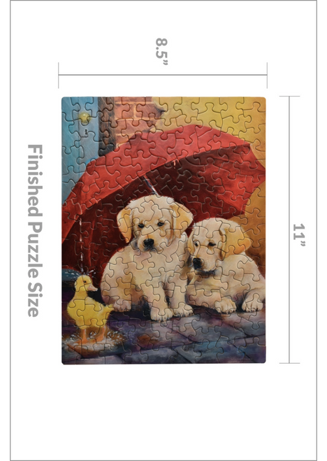 EVERYTHING'S Mini DUCKY 120 PIECE JIGSAW PUZZLE by Springbok | Ducks in the Window