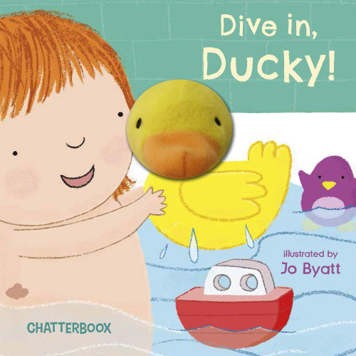 Dive in, Ducky! Finger Puppet Board Book by Chatterbox