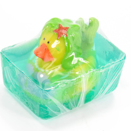 Mermaid (Aqua) Rubber Duck All Natural Soap by Heartland Fragrance | Ducks in the Window