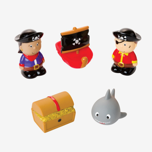 Pirate Party Squirtie Baby Bath Toys | Elegant Baby