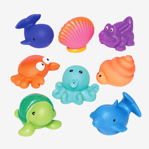 Sea  Party Squirtie Baby Bath Toys | Elegant Baby