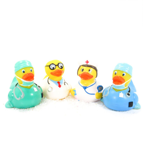 COVID-19 First Responders Rubber Duck Bundle, Coronavirus Pandemic, nurse, Doctor, Surgeon, We Salute You! | Ducks in the Window